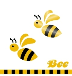 Merry bee logo vector