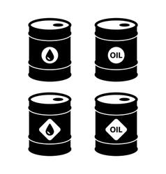 Oil barrel icons vector