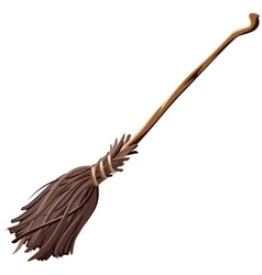 Old broomstick vector