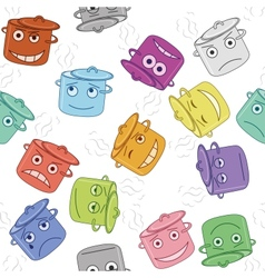 Pan smilies seamless vector image vector image