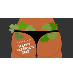 Panties and clover Many green plants in underwear vector image vector image