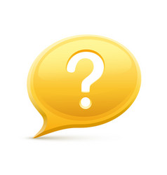 question in the chat vector image