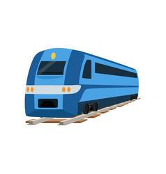 Railway locomotive train or passenger car vector