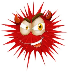 Red thorny with devil face vector image