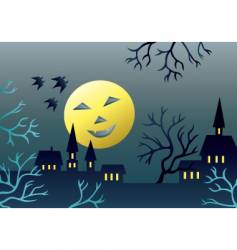 scary landscape vector image