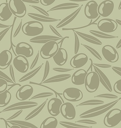 Seamless background with olives vector image vector image