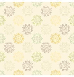 Seamless pattern with hand-drawn abstract flowers vector