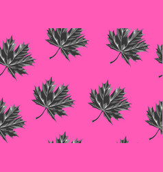 seamless pattern with maple leaves decorative vector image vector image