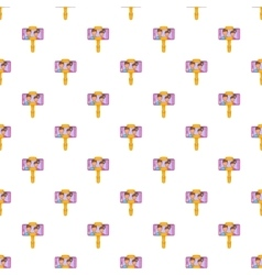 Selfie stick with mobile phone pattern vector