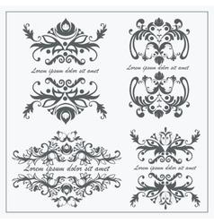 Set logos baroque ornament vector image vector image