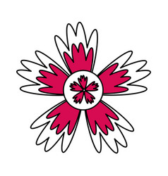 Single pink flower icon image vector
