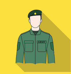 Soldierprofessions single icon in flat style vector