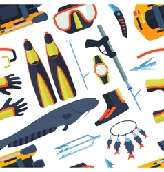 Spearfishing background vector