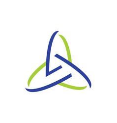 Three circle abstract technology logo vector