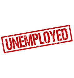 Unemployed stamp vector