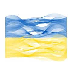 Wave line flag of ukraine vector