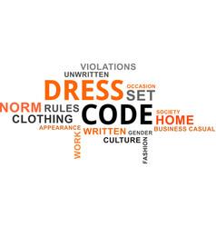 Word cloud - dress code vector