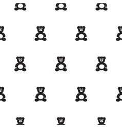 Bear black and white kid pattern vector