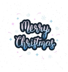 Merry christmas handwritten inscription with vector