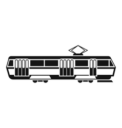 Tram icon simple style vector