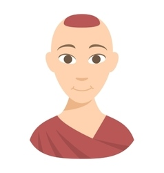 Buddhist monk vector