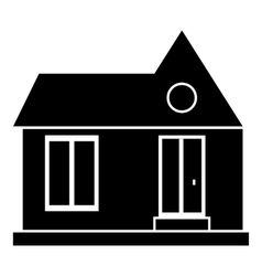 Private house icon simple style vector