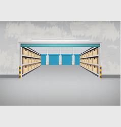 Empty warehouse building vector