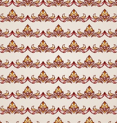 Stripy floral seamless pattern vector image