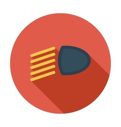 Headlight flat icon vector