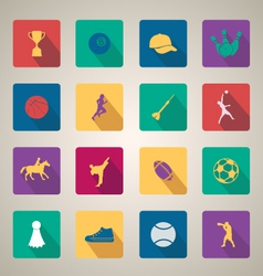 Flat web icons set 11 vector