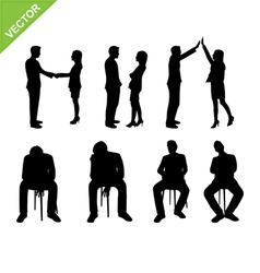 Business people silhouette vector