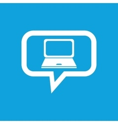 Laptop message icon vector