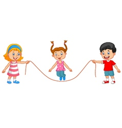 Cartoon jump rope vector