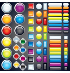 web button templates vector image