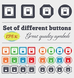 Power switch icon sign big set of colorful diverse vector