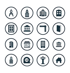 Architecture icons universal set vector