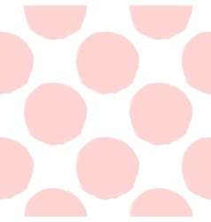Pink dots seamless pattern vector