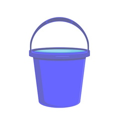 Blue bucket icon vector