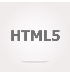 Html 5 sign icon programming language symbol vector