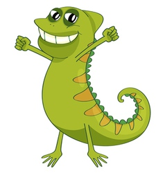 a chameleon vector image vector image
