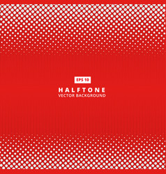 Abstract red dotted line halftone effect vector