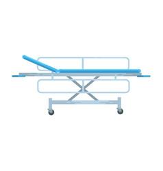 Adjustable mobile hospital bed medical equipment vector