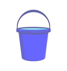Blue bucket icon vector image vector image