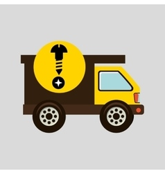 Construction gear icon screw head vector