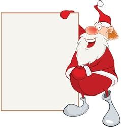 Cute santa claus holding blank boa vector