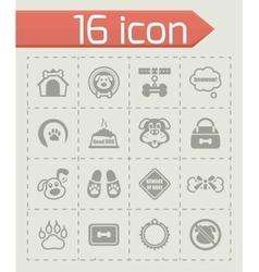 Dog icon set vector image vector image