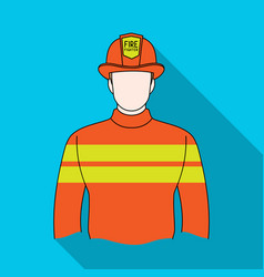 firefighterprofessions single icon in flat style vector image vector image