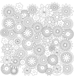 Flowers background catcher for coloring book vector image