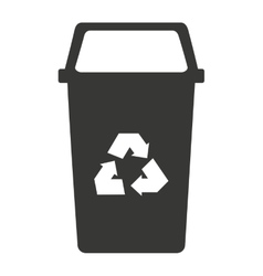 Garbage waste recycle icon vector