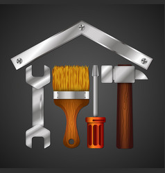 Home repair with design tool for business vector